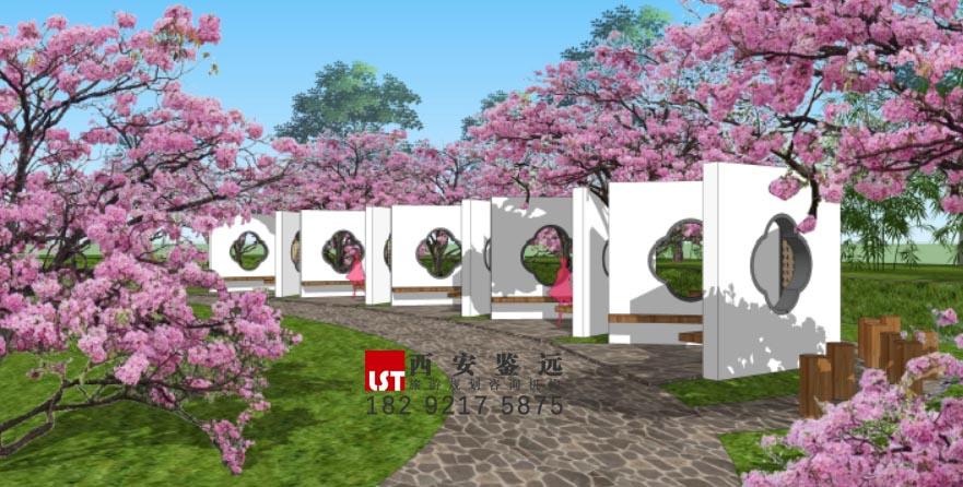 河南省洛阳市合峪镇蕙兰文化产业园修建性详细规划及景观、建筑设计