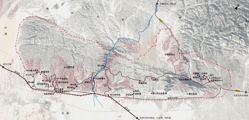 内蒙古阿拉善左旗敖伦布拉格大峡谷景区提升规划 鉴远规划案例 2